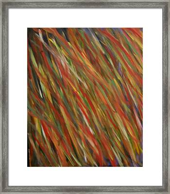Autumn Wind Framed Print by Leslie Revels