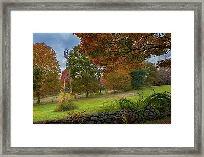 Autumn Windmill Framed Print by Bill Wakeley