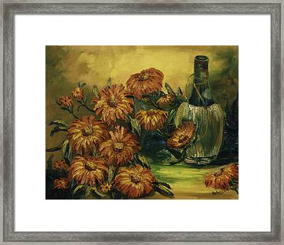 Framed Print featuring the painting Autumn Wine by Rebecca Kimbel