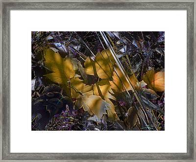 Framed Print featuring the digital art Autumn Yellow by Stuart Turnbull