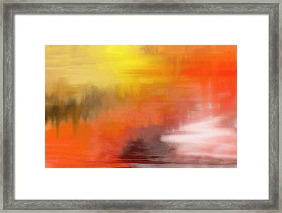 Framed Print featuring the digital art Autumnal Abstract  by Shelli Fitzpatrick