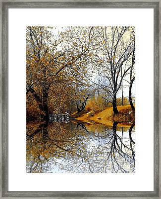 Framed Print featuring the photograph Autumnal by Elfriede Fulda