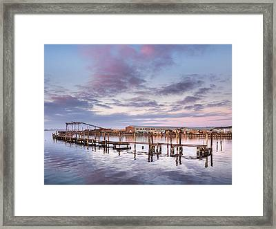 Autumnal Evening Tranquility On Humboldt Bay Framed Print by Greg Nyquist