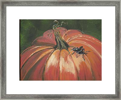 Autumnal Friend Framed Print by Jana Caissie