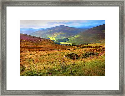 Framed Print featuring the photograph Autumnal Hills. Wicklow. Ireland by Jenny Rainbow