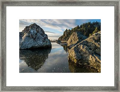 Autumnal Little River Scene Framed Print by Greg Nyquist