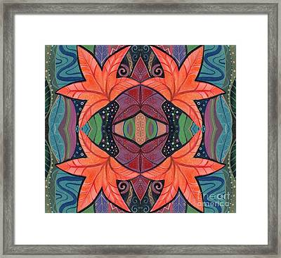 Autumnal Symmetry Framed Print by Helena Tiainen