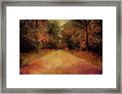 Autumns Approach Framed Print