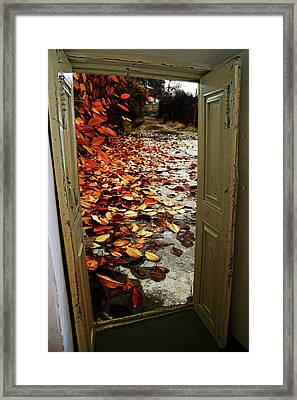 Autumn's Door Framed Print