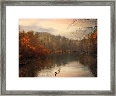 Autumn's Ebb Framed Print by Jessica Jenney