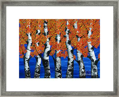 Autumns Farewell Party Framed Print by Rebecca Parker