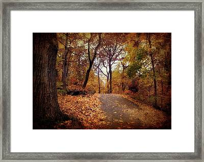 Autumn's Final Act Framed Print by Jessica Jenney