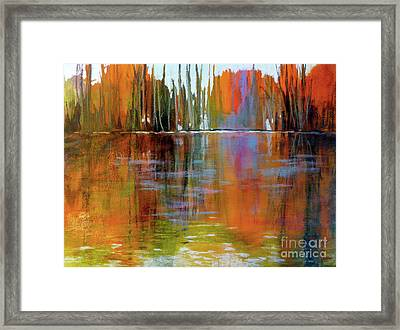 Autumn's Fire No. 2 Framed Print by Melody Cleary