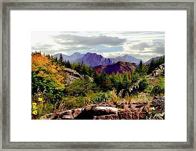 Autumns First Color Framed Print