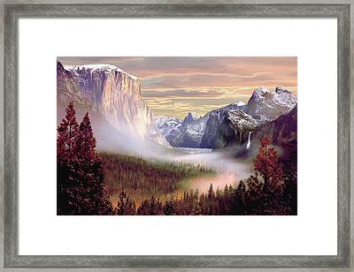 Autumns First Snowfall Framed Print