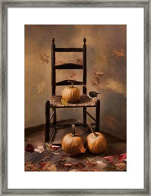 Framed Print featuring the photograph Autumn's In The Air by Robin-Lee Vieira