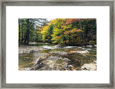 Framed Print featuring the photograph Autumns Kiss by Anthony Baatz