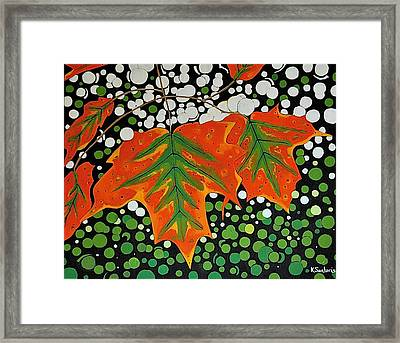 Framed Print featuring the painting Autumns Kiss by Kathleen Sartoris