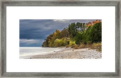 Autumn's Shoreline Framed Print