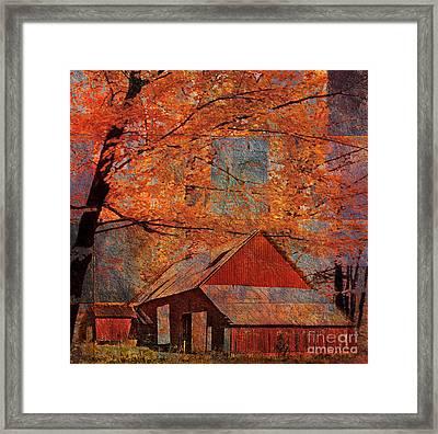 Autumn's Slate 2015 Framed Print
