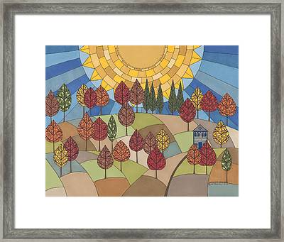 Autumn's Tapestry Framed Print