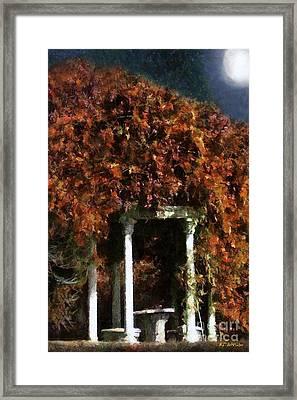 Autumn's Temple Framed Print