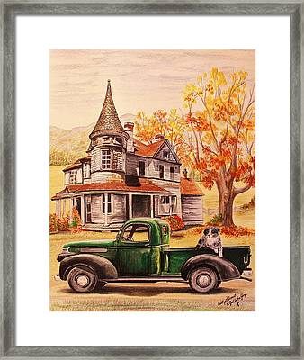 Autumn's Whispered Memories Framed Print