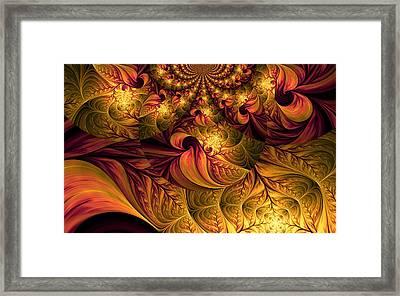 Autumns Winds Framed Print by Digital Art Cafe