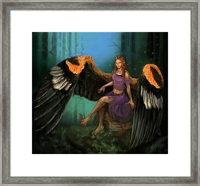 Autumn's Wings Framed Print by Poppy Paizs