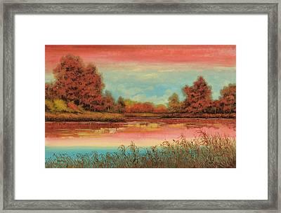 Autunno Sul Lago Framed Print