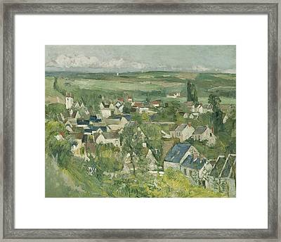 Auvers, Panoramic View Framed Print by Paul Cezanne