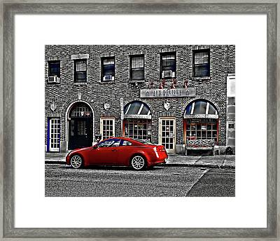 Aux Delices Framed Print