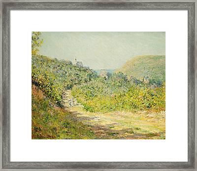Aux Petites Dalles Framed Print by Claude Monet