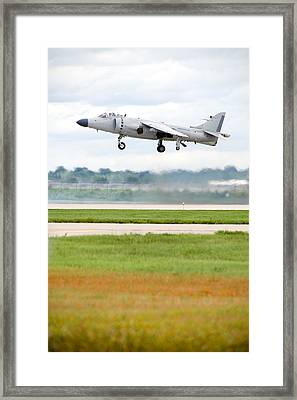 Av-8 Harrier Framed Print by Sebastian Musial