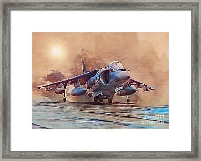 Av-8b Harrier Framed Print