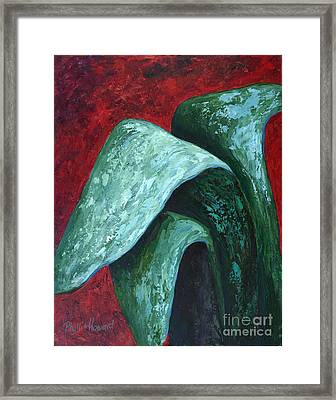Av Leaves Framed Print