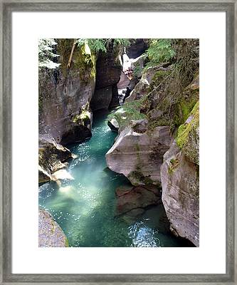 Avalanche Creek Glacier National Park Framed Print