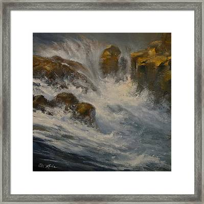 Avalanche Falls Framed Print by Mia DeLode
