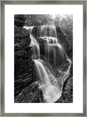 Avalanche Falls Of Franconia Notch   Framed Print by Thomas Schoeller