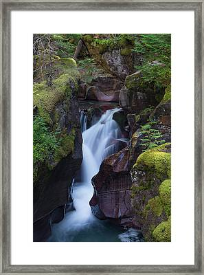 Framed Print featuring the photograph Avalanche Gorge 3 by Gary Lengyel