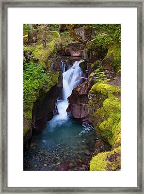 Framed Print featuring the photograph Avalanche Gorge 4 by Gary Lengyel