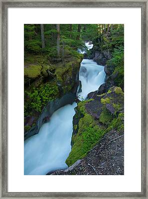 Framed Print featuring the photograph Avalanche Gorge 6 by Gary Lengyel