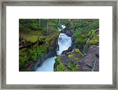 Framed Print featuring the photograph Avalanche Gorge 7 by Gary Lengyel