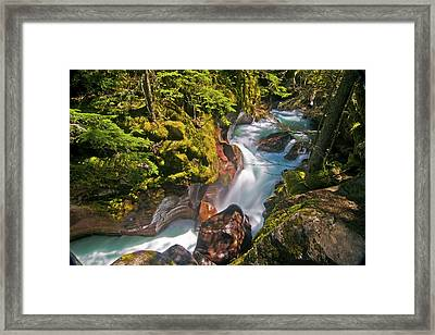 Framed Print featuring the photograph Avalanche Gorge by Gary Lengyel