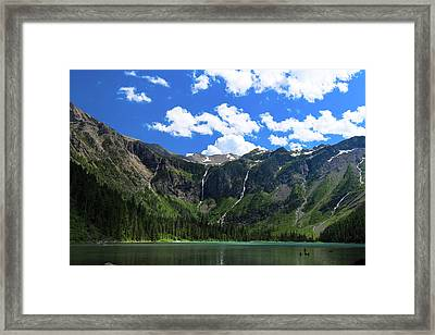 Avalanche Lake Framed Print