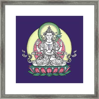 Avalokiteshvara Framed Print by Carmen Mensink