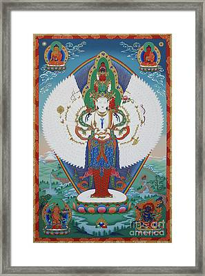 Avalokiteshvara Lord Of Compassion Framed Print