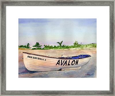 Avalon Beach Patrol Framed Print by Paul Temple