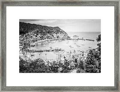 Avalon California Black And White Photo Framed Print by Paul Velgos