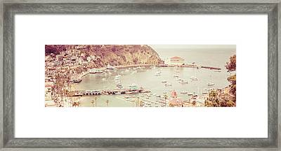 Avalon California Catalina Island Panorama Photo Framed Print